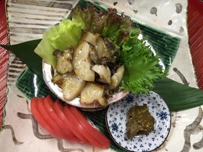 7月のスペシャルメニュー 徳島産 アワビ祭り