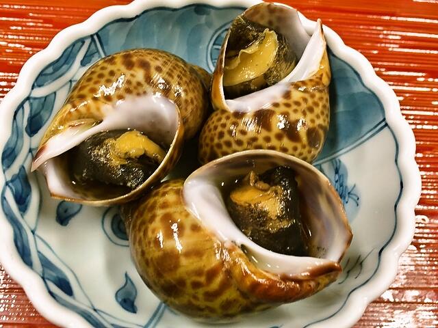 吉田町魚金寿し秋のおすすめ、本海つぼの煮付け