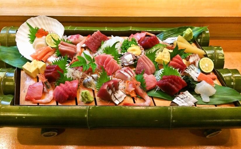 吉田町魚金寿し刺し身の盛り合わせ