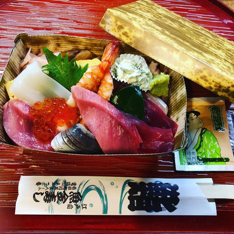 海鮮丼 上 一段弁当 1500円 税別