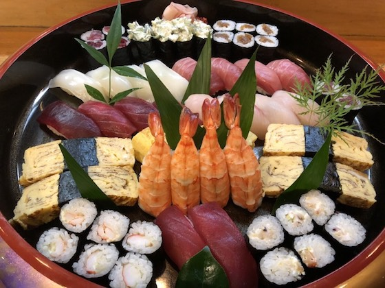 並寿司  1000円×4人分 税別